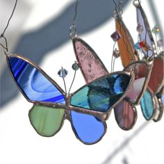 Boho Stained Glass Butterfly  Patchwork Butterfly by PamelaAngus