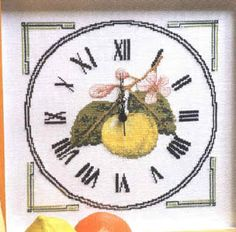 Cross Stitch Kitchen, Cross Stitch Patterns, Vintage World Maps, Clock, Pictures, Virginia, Patterns, Manualidades, Apples