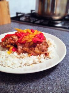 2 ingredient chicken and peppers www.theglasgowscullery.com