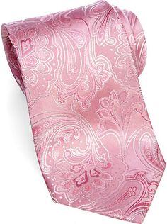 Ties - Sean John Pink Paisley Extra Long Tie - Men's Wearhouse