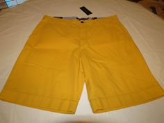 Men's Tommy Hilfiger 30 Classic Fit shorts 728 Mod Yellow 7880825 casual TH #TommyHilfiger #shorts