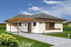 Projekt rodinného domu L90 - Pohľad spredu