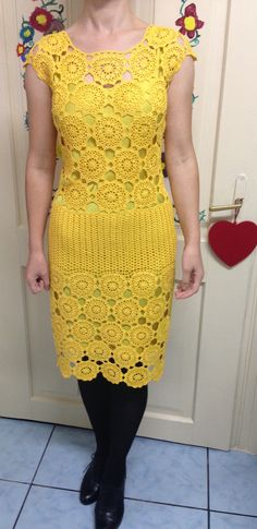 Short Sleeve Dresses, Dresses With Sleeves, Crochet, Fashion, Crochet Hooks, Moda, La Mode, Gowns With Sleeves, Crocheting