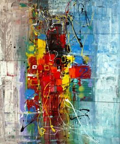 "Saatchi Online Artist: Al Razza; Mixed Media 2013 Painting ""Between Spaces"""