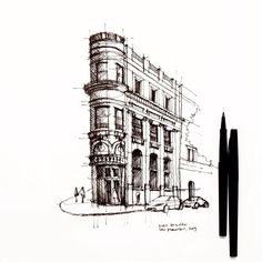 drawing with pen
