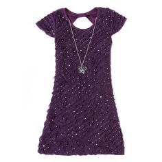 Is this the same purple as the bridesmaid dress? Sequined Eyelash Ruffle Dress (4-6x)