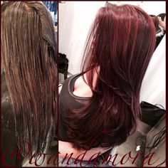 Plum base with cranberry highlights by wanda mora