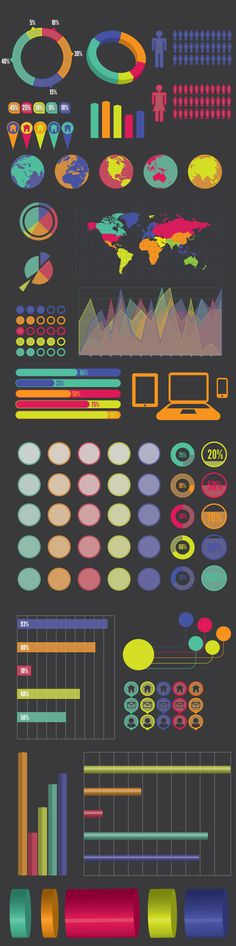 25 Infographics Vector Elements and Infographics Vector Graphics - 12