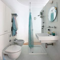 Gemini Tiles as seen in Living Etc magazine.   Compact shower room | Bathrooms | Shower room ideas | Image | Housetohome