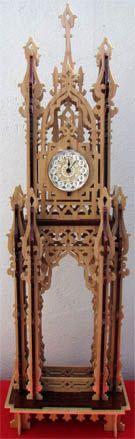 Arabian clock, scroll saw fretwork pattern