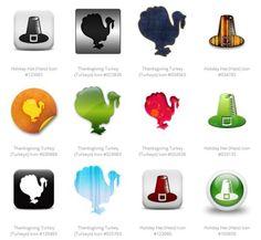 10 Thanksgiving Photoshop Freebies: Thanksgiving Icons