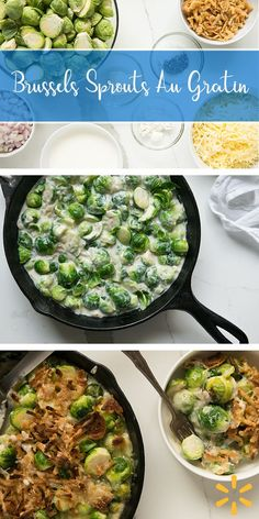 Brussels Sprouts Gratin - This rich and creamy side dish is a total winner for the holidays. Belly-warming and irresistible. Don't count on having leftovers! Get the easy recipe from Walmart.