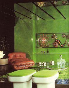 Super '70s interior design.