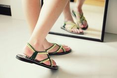 All our sandals are handmade locally here in Thailand. We do one by one with care, We sincerely believe that my customers are looking for good quality and design in handmade items, it is what We try to keep the best quality of our sandals. By : Nittynice sandal www.nittynice-sandal.com