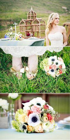 wedding bouquet - anemone