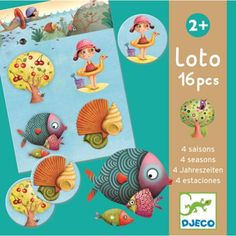 Djeco Board Game - Lotto Four Seasons Tom Games, Little Games, Games Images, Musical Toys, Memory Games, First Game, Matching Games, Toys Shop, Toy Store