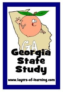 Georgia State Study For Kids Free Printable Map Included