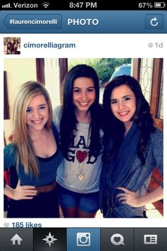 Lauren Cimorelli with Megan and Liz