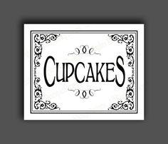CUPCAKES - Printable Wedding Dessert bar sign #weddings #decoration @EtsyMktgTool http://etsy.me/2g1wU4V
