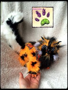 Butterfly Kitten handmade poseable animal recycled artist touchedbylavender Touched by Lavender artist artician craft crafts stuffed animal plush plushie Deviant art: touchedbylavender... Facebook: www.facebook.com/... Butterfly Kitten