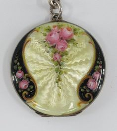 Enamel Sterling Locket