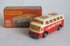 Matchbox Qantas airport bus
