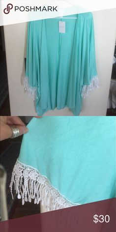 REDUCED- Plus Size Jacket with Decorative Sleeves PRICE REDUCED- (originally $30)- Plus Size Bellino jacket with decorative Lace Sleeves! Absolutely gorgeous! Perfect for those cool nights. Can dress up or down. Pair it with white capris for the ultimate summer look! I have 3 sizes... 1X,2X,3X... please choose correct listing with correct size when ordering.🌸 Made of 95% Rayon/ 5% Spandex. Bellino Clothing Jackets & Coats