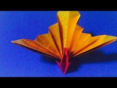 簡単 折り紙 祝い鶴 origami turu - YouTube