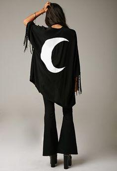 Gypsy Warrior Moon Fringe Kimono | Forever 21 - 2000179635