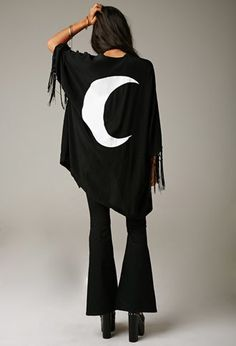 Gypsy Warrior Moon Fringe Kimono | Forever 21 - Love it! Got it! Going to wear it as part of my Halloween costume!