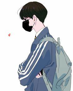 Man Illustration, Character Illustration, Joker Drawings, Art Drawings, Manga Art, Anime Art, Anime Korea, Swag Boys, Life Poster