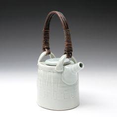 Nuka type glaze, salt fired. Handmade willow handle