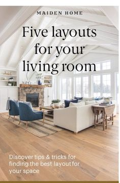 Find the perfect layout for your space with these tried-and-true configurations. Cosy Home Decor, Farmhouse Family Rooms, Kitchen Board, Bright Homes, Lounge Decor, Living Room Decor, Living Area, Dining Room, Modern Farmhouse Style