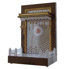 Designer Wooden Mandir 3 FT Height With Drawer Temple Room, Home Temple, Wooden Temple For Home, Temple Design For Home, Bed Design, House Design, Mandir Design, Jewelry Store Design, Pooja Mandir