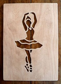 "Beautiful Large Sized Hand Crafted MDF 'Ballet Dancer' Drawing Template / Stencil - Approx 9"" X 4"" by Greg Ledder http://www.amazon.co.uk/dp/B00MQ9OOVO/ref=cm_sw_r_pi_dp_-eLjvb1PNMP27"
