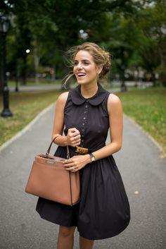 NYFW Recap, Black MK Dress and Fendi bag