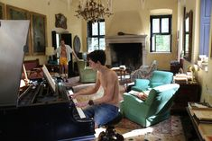 """Armie Hammer and Timothee Chalamet, in """"Call Me By Your Name"""" (Sony Pictures Classics) Your Name Full Movie, Call Me By, Italian Villa, Northern Italy, Film Stills, Soundtrack, Cool Pictures, Hollywood, Architecture"""