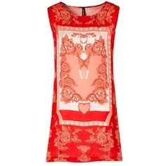 Schickes Kleid in Rot mit auffälligem Muster ab 34,99 € <3 Hier kaufen: http://www.stylefru.it/s39753 #Muster #casual #Sommer