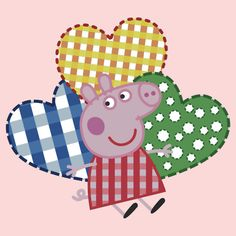 Peppa Pig Hearts by Purin