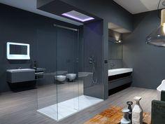 Box doccia in vetro temperato con piatto PENISOLA by Antonio Lupi Design® design Nevio Tellatin