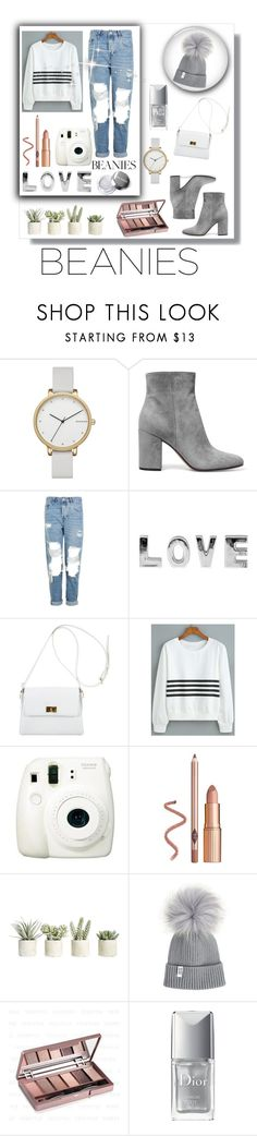 """""""Pom Pom Beanie♡"""" by anna-miller10 ❤ liked on Polyvore featuring Skagen, Gianvito Rossi, Topshop, Chanel, Fuji, Allstate Floral and Christian Dior"""