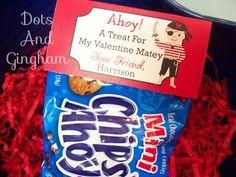 Valentine Treat Bag TopperValentine Boy Treat by DotsAndGingham, $7.00
