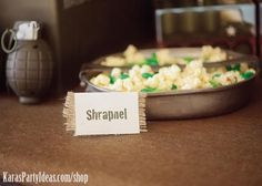 Shrapnel popcorn.  Popcorn with green m's.