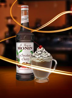 MONIN Chocolate Cherry Syrup