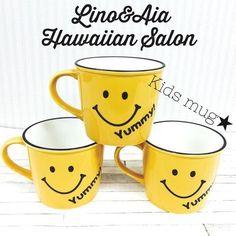 【お名前入れOK】再販※オトナも♡キッズも♡笑顔になれるYummy!!スマイリーマグカップ[リノアンドアイア]