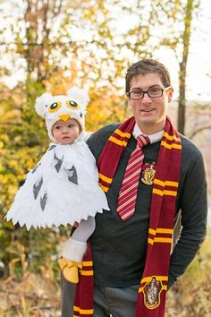 The Arbitrary Fox : Halloween Harry Potter Themed, Harry and Hedwig, Family costume, Owl.
