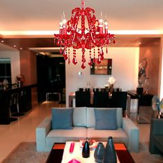 Chandelier ,  Modern/Contemporary Chrome Feature for Crystal Metal Living Room Bedroom
