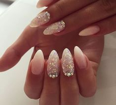 Babyboom with soft pink and french tip and north pole accent nails ❤️ by mad. - Babyboom with soft pink and french tip and north pole accent nails ❤️ by madamme polkadots - # Acrylic Nail Designs, Nail Art Designs, Nails Design, Pink Nails, Glitter Nails, Glitter Art, Pink Glitter, Stiletto Nails, Gel Nails