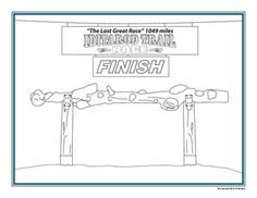 This Coloring Page Can Be Used In Conjunction With Activities About The Iditarod It Is