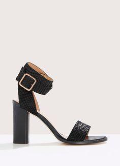 Sandalia de piel efecto serpiente